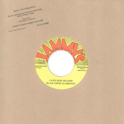 Black Uhuru - I Love King Selassie (feat. Chronixx) / Version , Vinyl - Dub Store Records, Unearthed Sounds