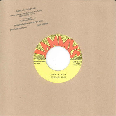 Michael Rose - African Queen / Version , Vinyl - Dub Store Records, Unearthed Sounds