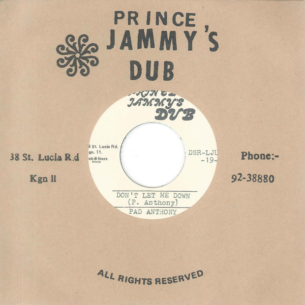 Pad Anthony & Prince Jammy's - Don't Let Me Down , Vinyl - Dub Store Records, Unearthed Sounds