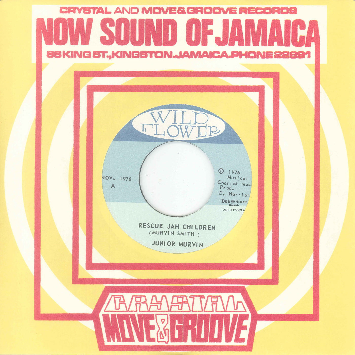 Junior Murvin & Chariot Riders - Rescue Jah Children / Version , Vinyl - Dub Store Records, Unearthed Sounds