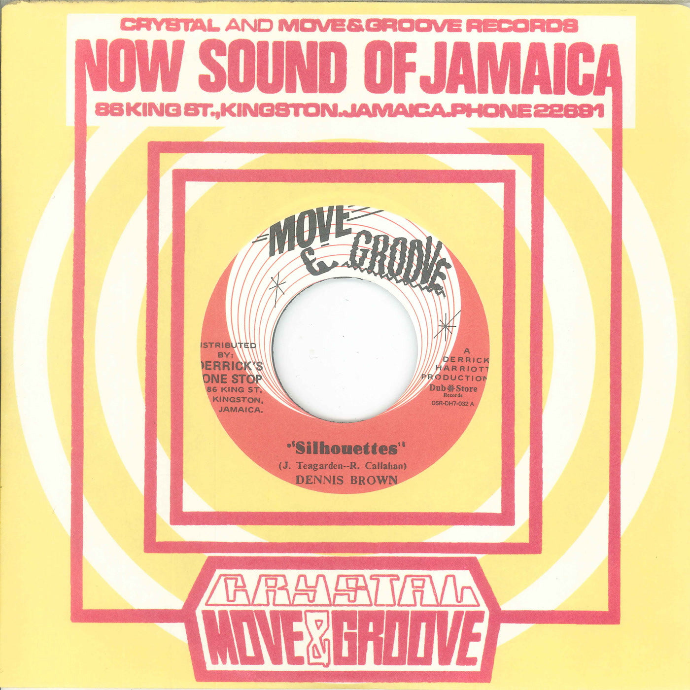 Dennis Brown / Augustus Pablo & Crystalites - Silhouettes / Bass & Drum Version , Vinyl - Dub Store Records, Unearthed Sounds