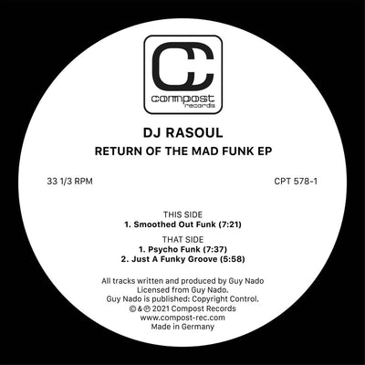 DJ Rasoul - Return Of The Mad Funk EP - Unearthed Sounds