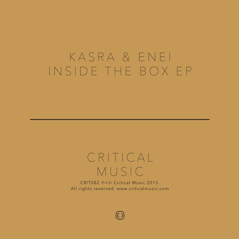 Kasra & Enei - Inside the Box EP , Vinyl - Critical Music, Unearthed Sounds