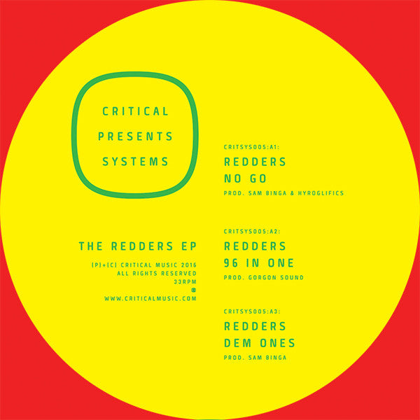 Redders - The Redders EP , Vinyl - Critical Music, Unearthed Sounds