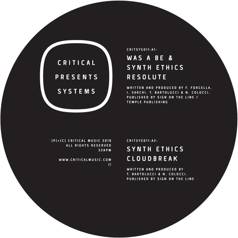 Was A Be & Synth Ethics - Critical Presents: Systems 011 [Transparent Green Marbled Vinyl]