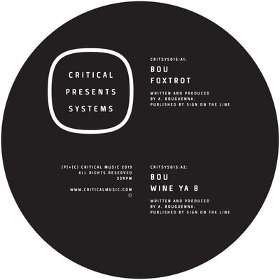 Bou - Critical Presents: Systems 015 [Moss Green Vinyl w/ Download Card]