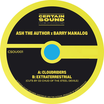 "Ash The Author x Barry Manalog - Cloudriders / Extraterrestrial [7"" Vinyl] - Unearthed Sounds"