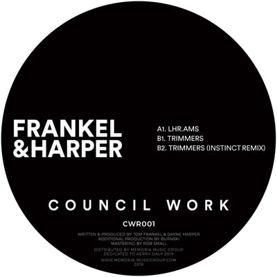 Frankel & Harper - Trimmers EP [180 grams] - Unearthed Sounds