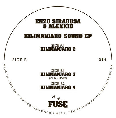 Enzo Siragusa & Alexkid - Kilimanjaro Sound EP - Unearthed Sounds
