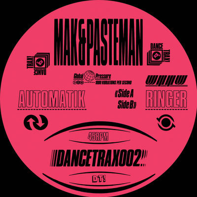 Mak & Pasteman - Automatik , Vinyl - Unknown To The Unknown, Unearthed Sounds