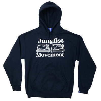 Junglist Movement Hoodie (Navy Blue) - Unearthed Sounds