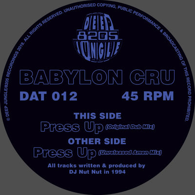 Babylon Cru - Press Up - Unearthed Sounds
