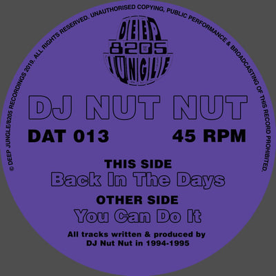 DJ Nut Nut - You Can Do It / Back In the Days