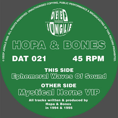 Hopa & Bones - Mystical Horns VIP / Ephemeral Waves Of Sound - Unearthed Sounds