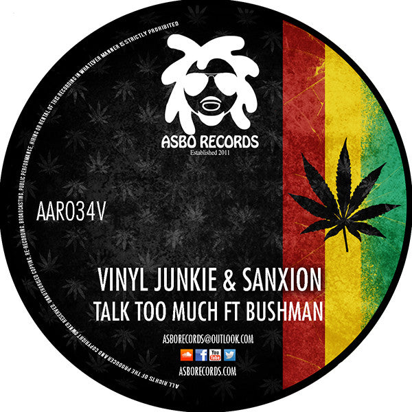 Vinyl Junkie & Sanxion - Talk Too Much (feat. Bushman) - Unearthed Sounds