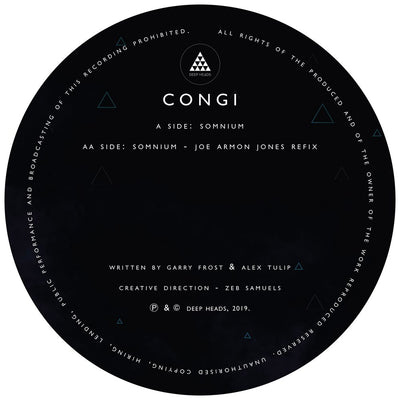 "Congi - Somnium / (Joe Armon-Jones Refix) [Clear 12"" Vinyl]"