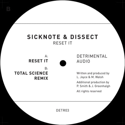 Sicknote & Dissect - Reset It - Unearthed Sounds