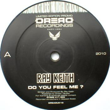 Ray Keith Vs Dark Soldier - Do You Feel Me EP , Vinyl - Dread UK, Unearthed Sounds