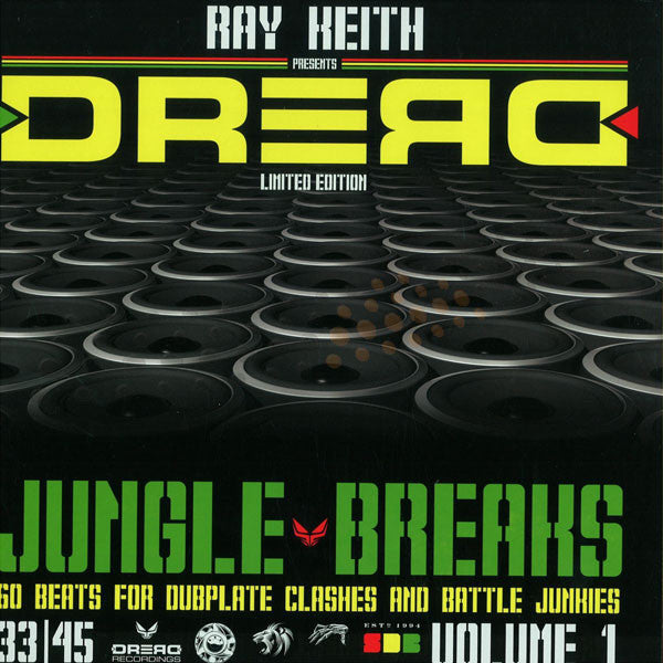 Ray Keith ‎– Dread Jungle Breaks (Volume 1) , Vinyl - Dread UK, Unearthed Sounds
