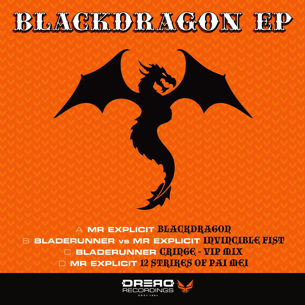 Mr Explicit vs Bladerunner - Blackdragon EP , Vinyl - Dread UK, Unearthed Sounds