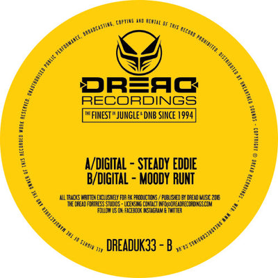 Digital - Steady Eddie EP , Vinyl - Dread UK, Unearthed Sounds - 1