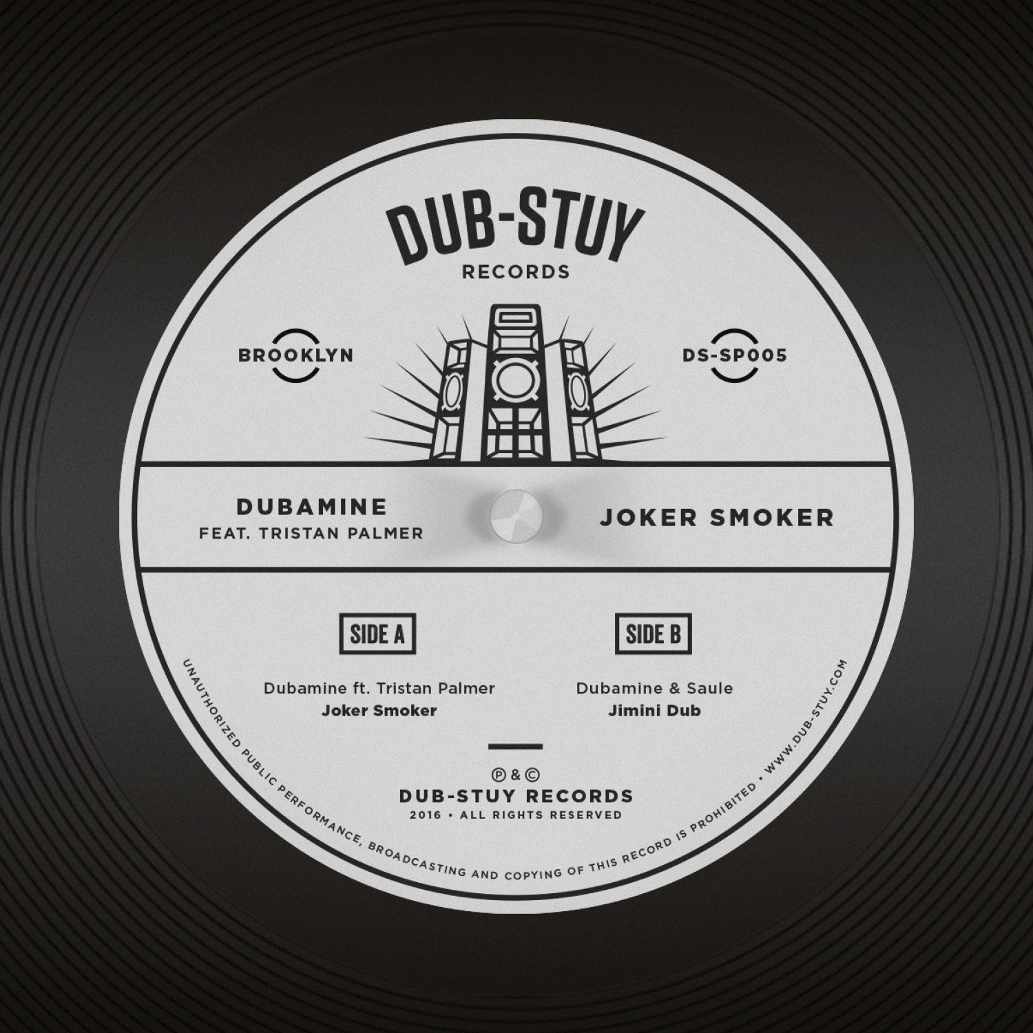 Dubamine ft. Tristan Palmer - Joker Smoker SP , Vinyl - Dub-Stuy Records, Unearthed Sounds