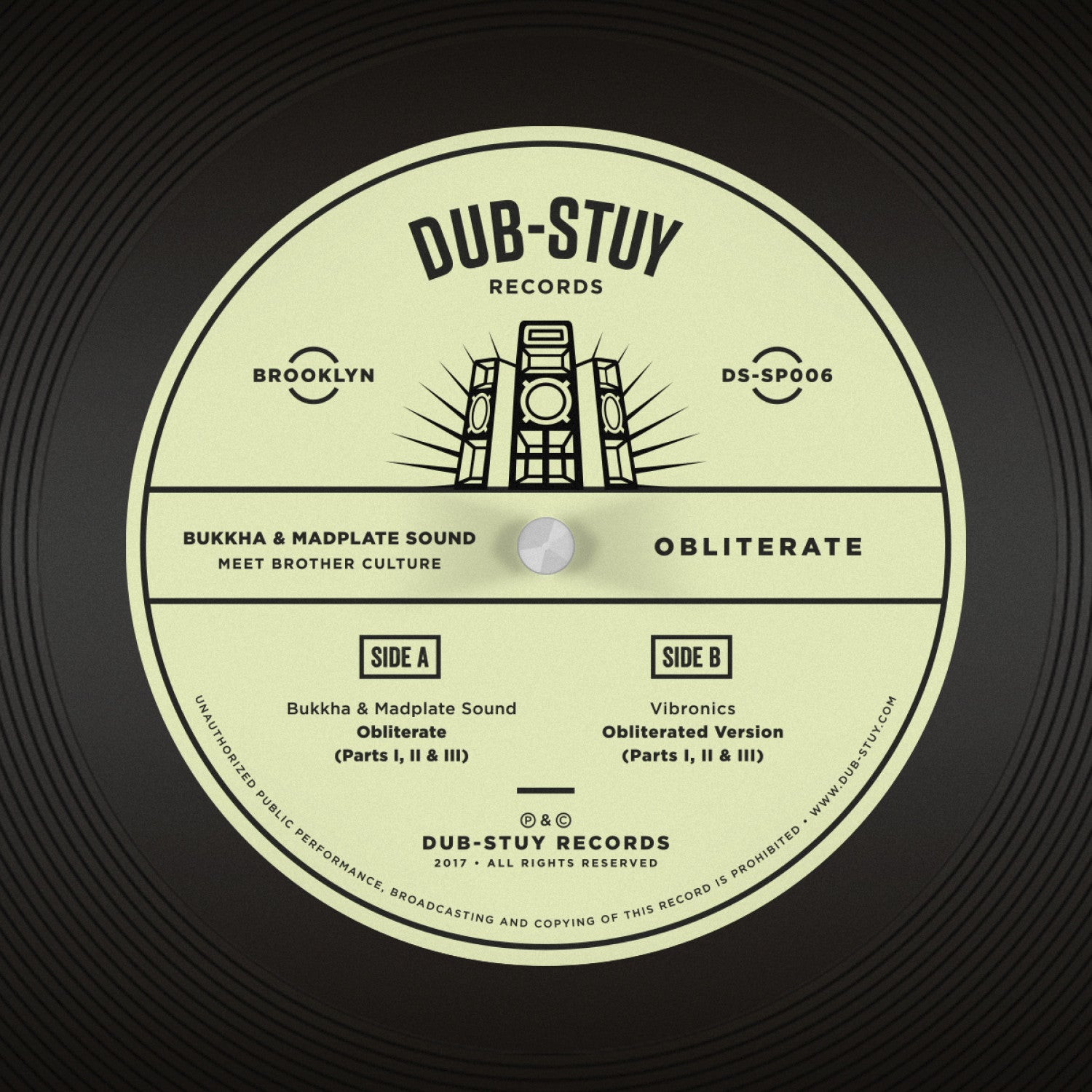 Bukkha & Madplate Sound Meet Brother Culture - Obliterate SP