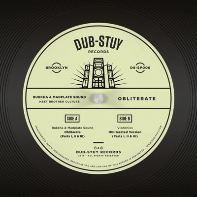 Bukkha & Madplate Sound Meet Brother Culture - Obliterate SP - Unearthed Sounds, Vinyl, Record Store, Vinyl Records
