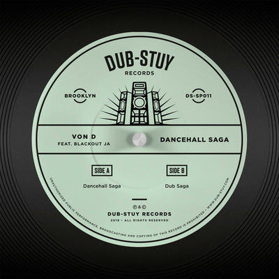 Von D ft. Blackout JA - Dancehall Saga SP - Unearthed Sounds, Vinyl, Record Store, Vinyl Records