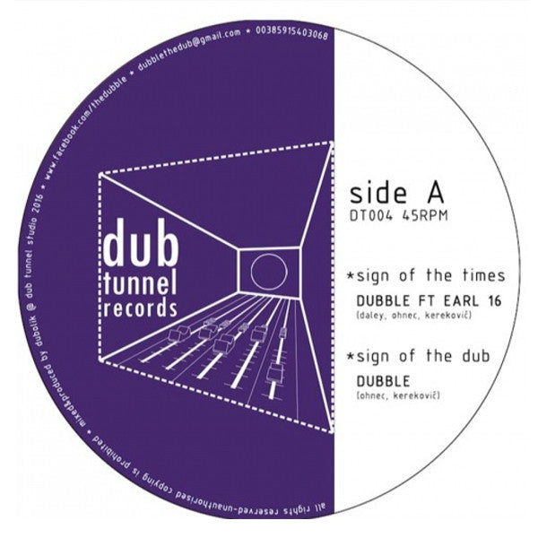 Dubble feat. Earl 16 - Sign of the Times , Vinyl - Dub Tunnel Records, Unearthed Sounds