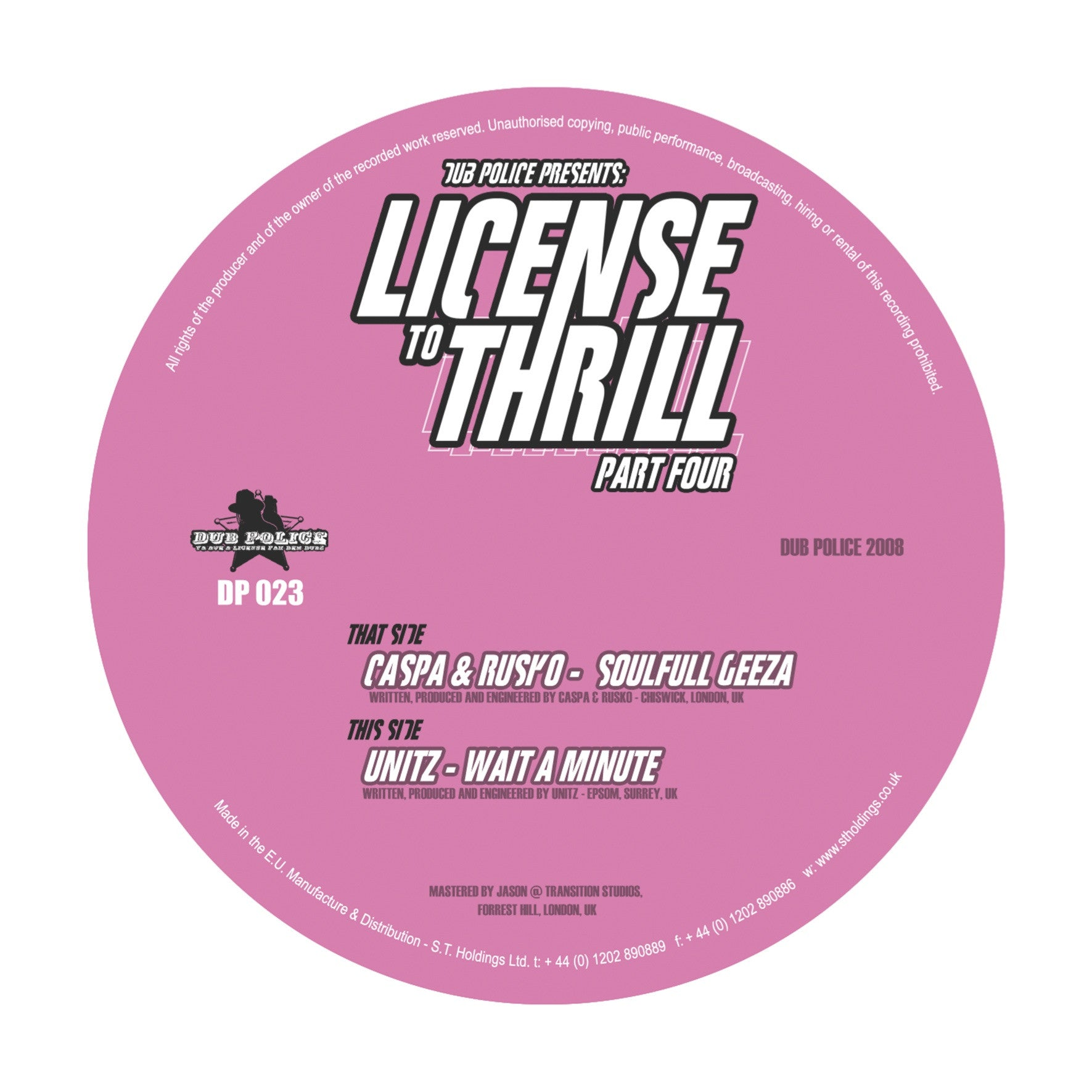 Caspa & Rusko / Unitz - License To Thrill: Part Four - Unearthed Sounds