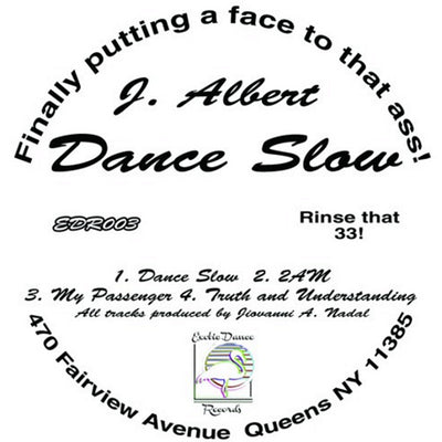 J. Albert - Dance Slow , Vinyl - Exotic Dance, Unearthed Sounds