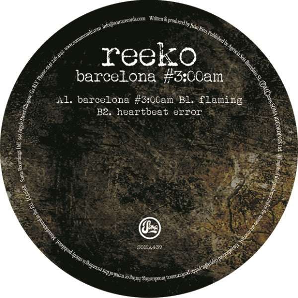 Reeko - Barcelona #3:00am - Unearthed Sounds