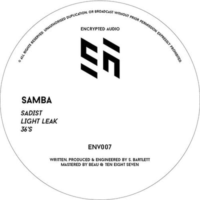Samba - ENV007 , Vinyl - Encrypted Audio, Unearthed Sounds