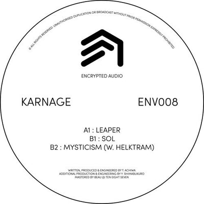 Karnage - ENV008 , Vinyl - Encrypted Audio, Unearthed Sounds