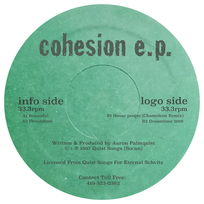 Eternal Schvitz 002: Aaron Palmquist - Cohesion EP [Repress] - Unearthed Sounds, Vinyl, Record Store, Vinyl Records