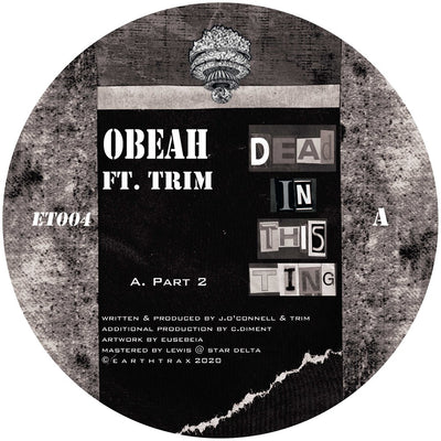Obeah, Trim & Rider Shafique - Dead In This Ting - Unearthed Sounds, Vinyl, Record Store, Vinyl Records