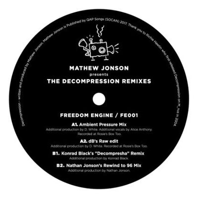 Mathew Jonson - Decompression Remixes [w/ dBridge, Nathan Jonson & Konrad Black] - Unearthed Sounds