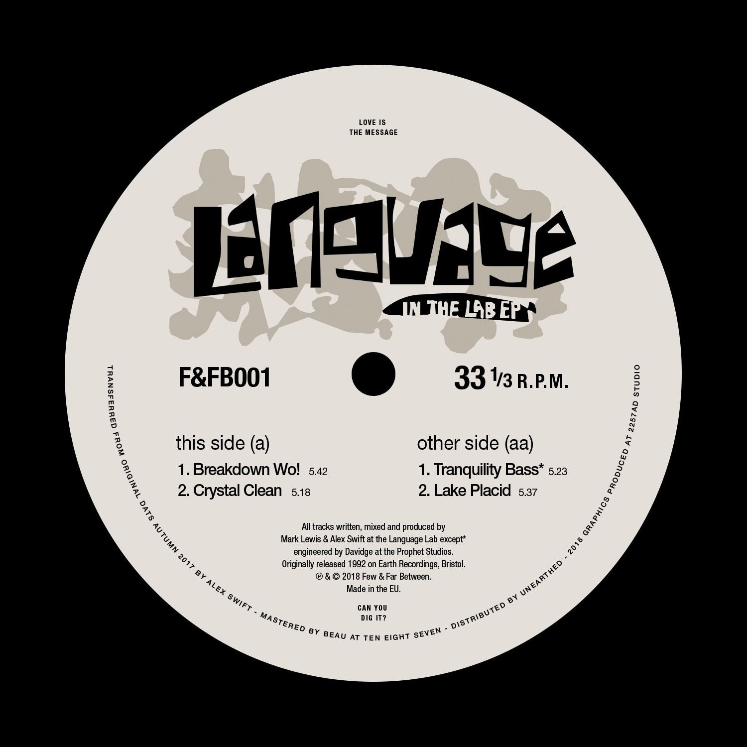Language - In The Lab EP [REPRESS]