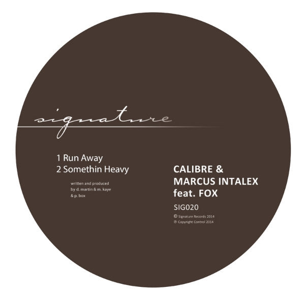 Calibre & Marcus Intalex feat. Fox - Run Away / Somethin Heavy - Unearthed Sounds