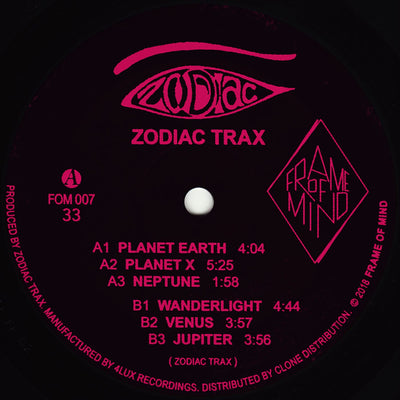 Zodiac Trax - Zodiax Trax [Repress] - Unearthed Sounds