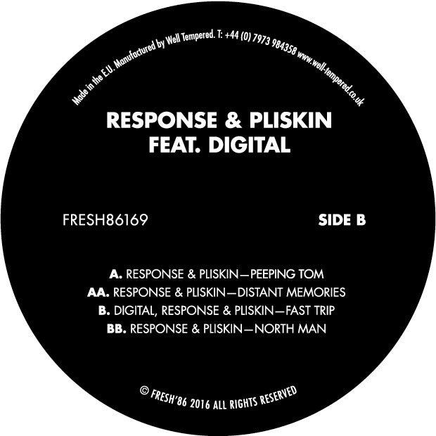Response & Pliskin Feat. Digital - FRESH86169 , Vinyl - Fresh 86, Unearthed Sounds