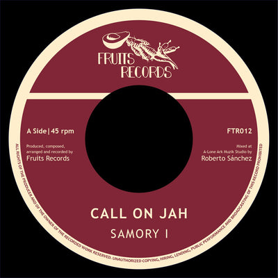 "Samory I - Call On Jah [7"" White Vinyl Repress] - Unearthed Sounds"