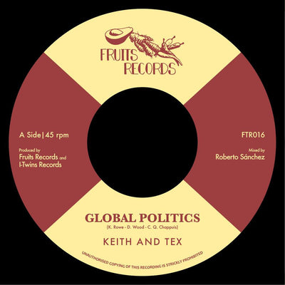 "Keith and Tex - Global Politics / The I-Twins - I Take The Risk [7"" Vinyl]"
