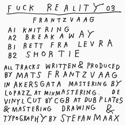 Frantzvaag - Fuck Reality 03 , Vinyl - Fuck Reality, Unearthed Sounds