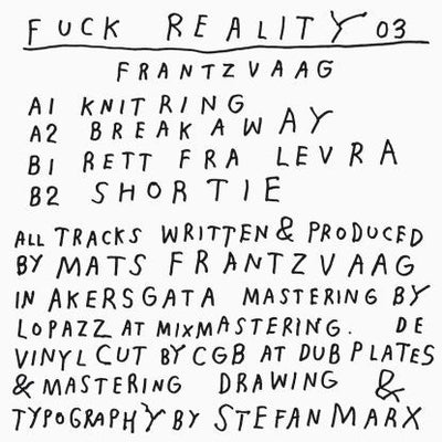 Frantzvaag - Fuck Reality 03 - Unearthed Sounds, Vinyl, Record Store, Vinyl Records