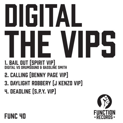 Digital - The VIPS , Vinyl - Function Records, Unearthed Sounds