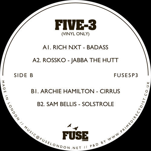 Various Artists - FIVE - 3 , Vinyl - Fuse London, Unearthed Sounds