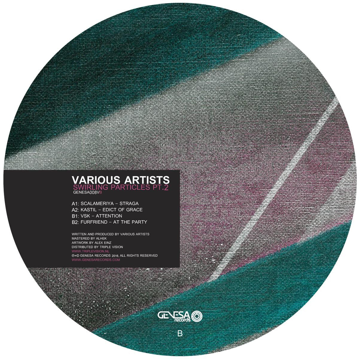Various Artists - Swirling Particles EP Part 2 , Vinyl - Genesa Records, Unearthed Sounds