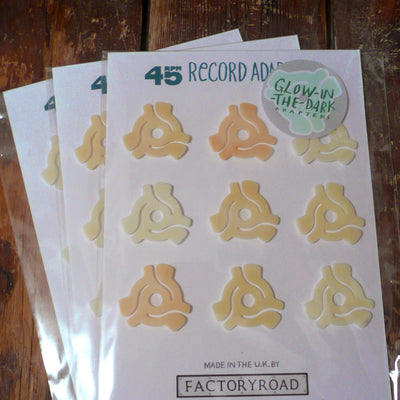 "7"" Glow In The Dark Adaptor (Card of 9) - Unearthed Sounds"